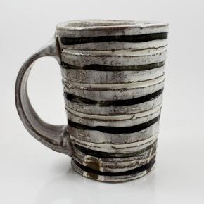 black lined mug