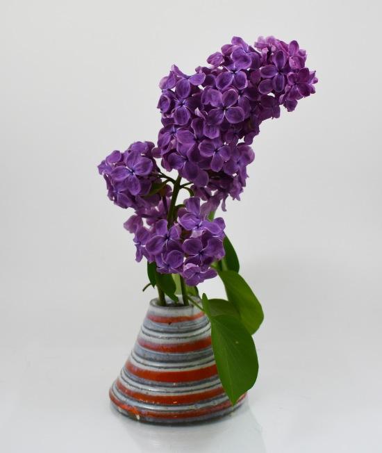 orange cone vase