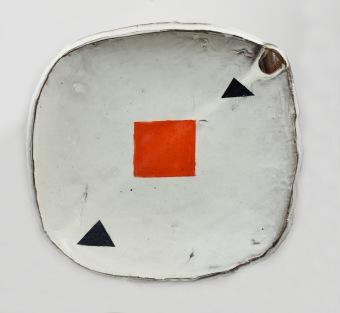 orange square plate