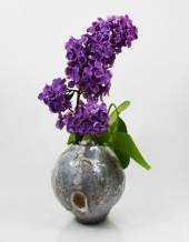 orbvase with lilacs