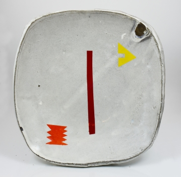 red lined plate