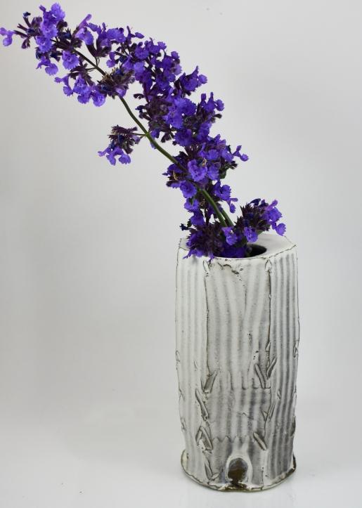 rough facited vase