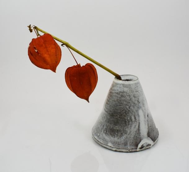 white cone vase 2 photo 1