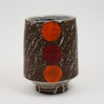 orange red dot yunomi