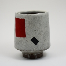 red and black rectangle yunomi